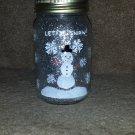Snowman Mason Jar Candle