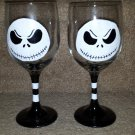 Jack Skellington Painted Glass Sets