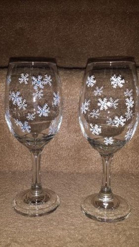 Snowflake Wine Goblet Set