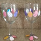 Pretty Easter Egg Wine Glass Set