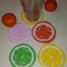 Summery Citrus Felt Coaster Set