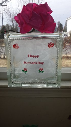 Unique Mother's Day Light Up Glass Frame