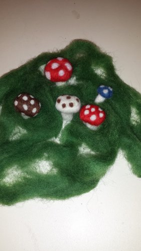 Fairy Garden Felted Mushrooms