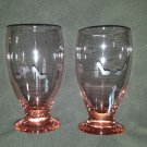 Pink Girly Etched Glassware