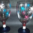 Patriotic Short Leg Wine Glasses
