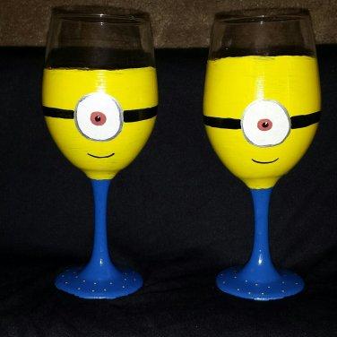 Fun Minion Wine Goblets