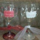 Naughty/Nice Wine Glass Set