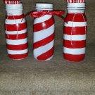 Cute Little Peppermint Stripe Bottle Set