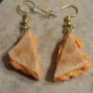 Delicious Grilled Cheese Charm Earrings Clay Charms Food Sandwich Earrings