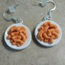 Delicious Miniature Mac n Cheese Charm Earrings Clay Food Wires Kids