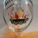 Fun Getting Toasted Goblet Barware Wine Glass Fall Glassware Glass Gifts Wine
