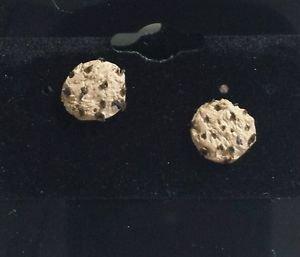 Cute Miniature Cookie Stud Earring Clay Kids Cookie Post Goldtone