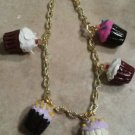 Delicious Cupcake Charm Bracelet Food Clay Charms Cupcake Kids Bracelet