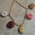 Cute Donut Lover's Charm Bracelet Food Charms Clay Donut Bracelets