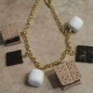 Miniature Smore Charm Bracelet Clay Charms Snack Food Bracelets Charms