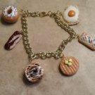 Breakfast Food Charm Bracelet Clay Charms Food Jewelry Bracelets Unique Bracelet