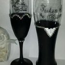 Parents of the Bride Glass Set Weddings Gifts Unique Bling Glass Parent Gifts