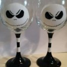 Jack Skellington Wine Glass Hand Painted Glassware Wine Glass Gift Character Set