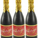 "Champagne Bottle Confetti Party Shooter Compressed Air Fun Popper 12"" (3 Pack)"