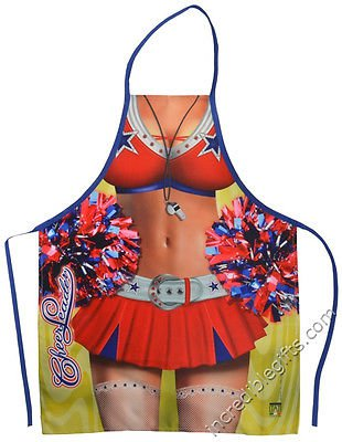 Cheerleader Apron Sexy Flirty Funny Novelty Kitchen Apron For Women Halloween