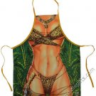 Jane Leopard Apron Wild Jungle Cloth Sexy Flirty Funny Novelty Apron For Women