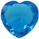 80 mm 3.15 inch solid crystal Turquoise glass HEART paperweight,