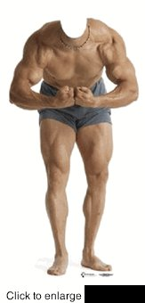 MUSCLE MAN STAND-IN CARDBOARD CUTOUT LIFE SIZE STANDUP