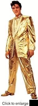ELVIS PRESLEY CARDBOARD CUTOUT LIFE SIZE STANDUP - GOLD LAME SUIT