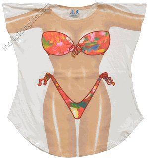 TROPICAL   bikini Cover-Up  PLUS   SIZE T-Shirt Sexy Flirty Funny Silly Crazy Summer Fun