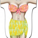 Tropical Girl Sarong Cover-Up T-Shirt  REG  SIZE T-Shirt Sexy Flirty Silly Crazy Summer Fun