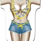 Mardi Gras Girl Cover-Up T-Shirt  PLUS  SIZE T-Shirt Sexy Flirty Silly Crazy Summer Fun