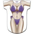 Purple Macrame Bikini Cover-Up T-Shirt   PLUS  SIZE T-Shirt Sexy Flirty Silly Crazy Summer Fun