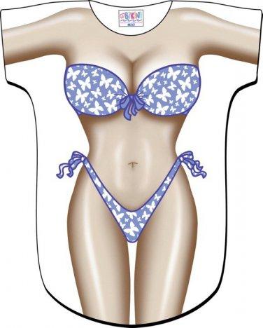 Butterfly Bikini Cover-Up T-Shirt REG  SIZE T-Shirt Sexy Flirty Silly Crazy Summer Fun