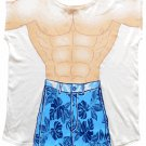Mens Tropical Muscle Guy Coverup T-Shirt Coverup T-Shirt Sexy Flirty Silly Crazy Summer Fun