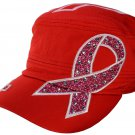 Breast-Cancer-Awareness-Hat-Hope-RED-rhinestone