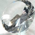 Large 5 inch 120mm clear crystal glass diamond paperweight With Stand gifts weddings MORE