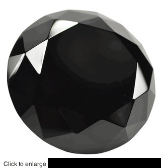 3.15inch 80mm BLACK  crystal glass diamond paperweight gifts weddings MORE