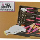 Auto Emergency Jumper Cable Kit 35 Piece Set (Pink)