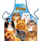 Cats Cooking Funny BBQ Kitchen Novelty Apron For Men/Women birthdays,