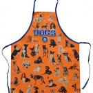 DOGS orange Apron Kitchen Novelty Apron dog lovers ORIGINAL made in ITALY