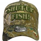 SHUT UP and FISH camo hat fully embroidered with bass cap hat Fisherman giftbass