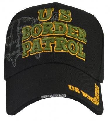 US BORDER PATROL hat Green, map of USA fully embroidered