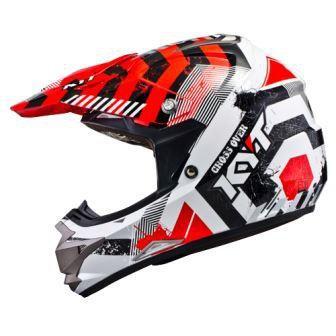 Helmets KYT Cross Over Drift Red White