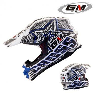 Helmets GM Super Cross Startic Blue
