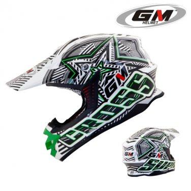 Helmets GM Super Cross Startic Green