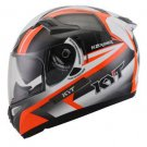 Helm K2 Rider seri 2 White Gunmetal Orange