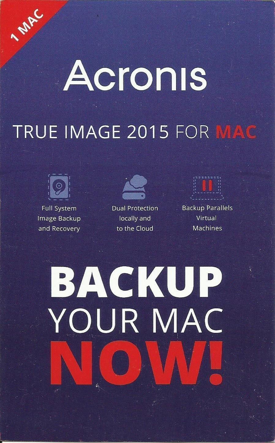 Acronis True Image 2015 for Mac (1 user)