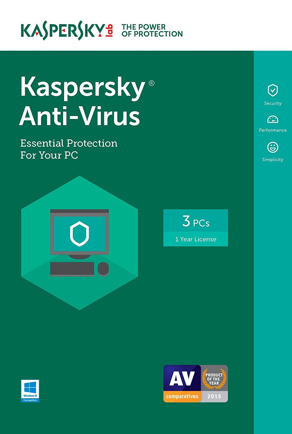 [Region Locked] Kaspersky Anti-Virus 2017 3 PCs Devices 1 Year Product Key Download