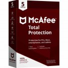 McAfee Total Protection 2018 - 5 PCs / Devices - 1 Year Full Version Product Key Download