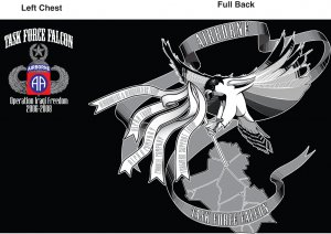 Task Force Falcon Redeployment T-Shirt (LARGE)